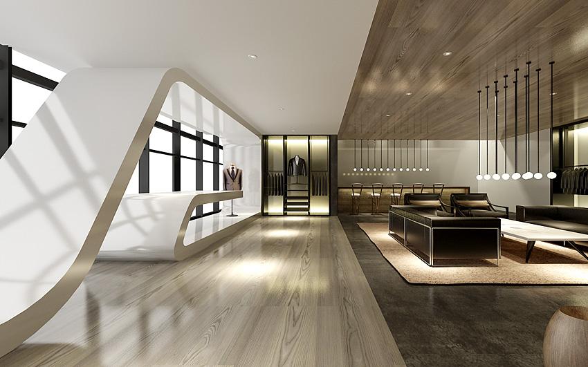服装高级定制艺术生活馆-会所设计-罗淞元 - 商业空间
