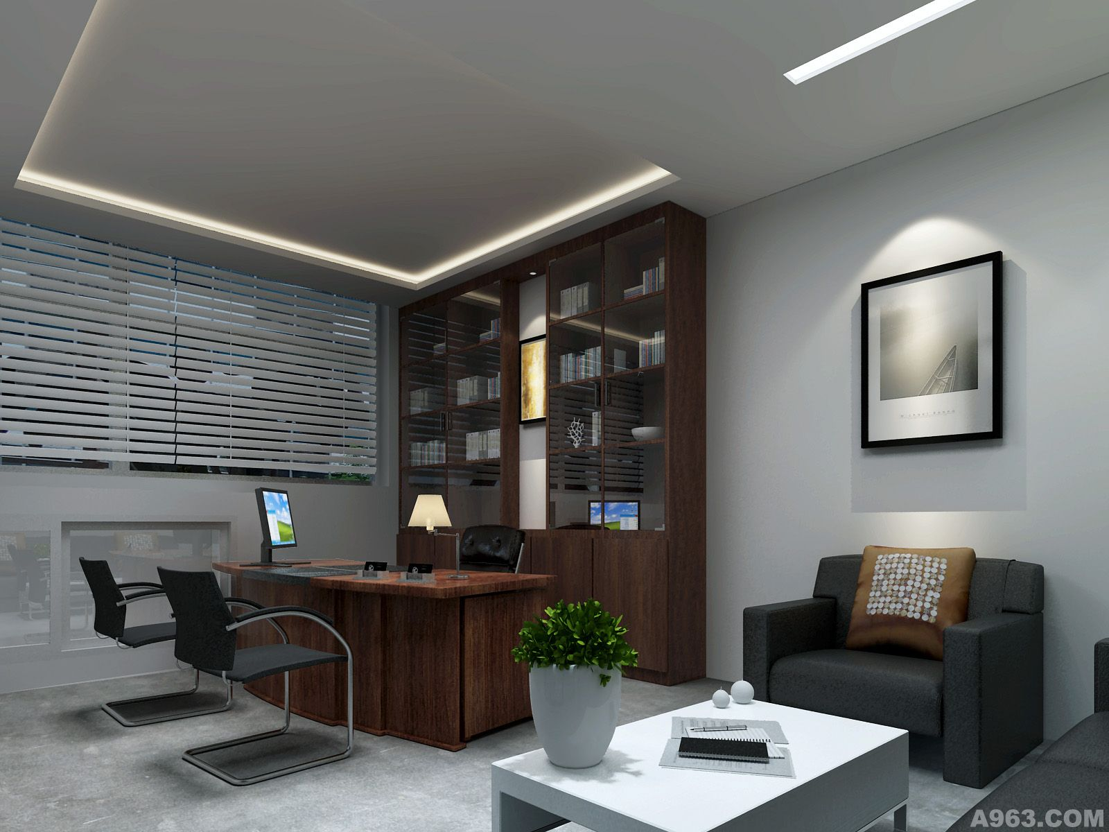 互联网企业写字楼办公空间室内装饰设计