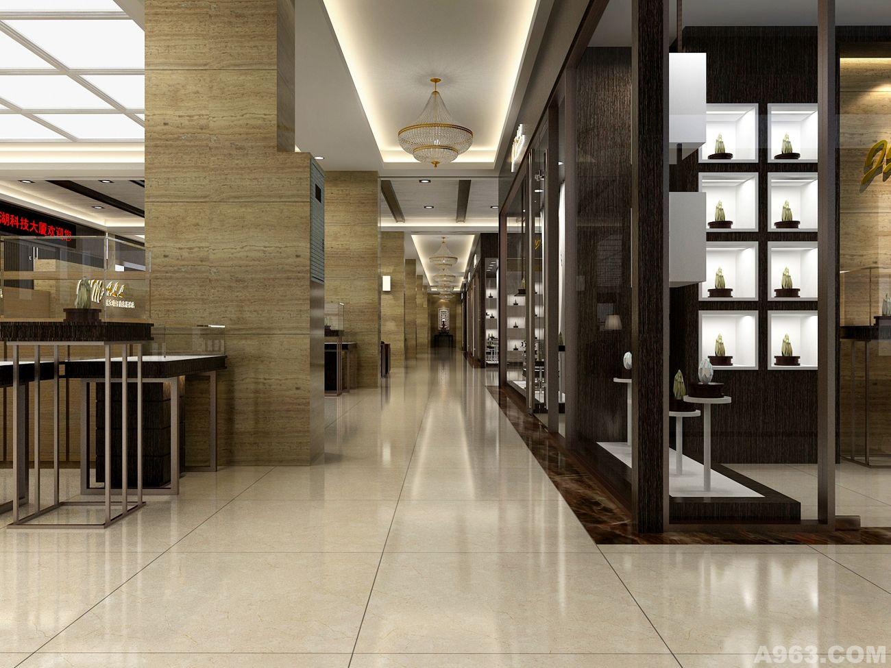 珠宝展厅卖场展示商业空间设计