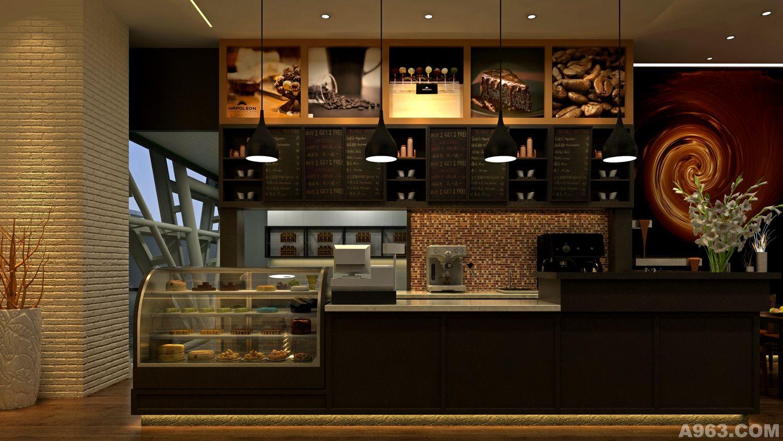 咖啡廳商業餐飲空間室內形象設計