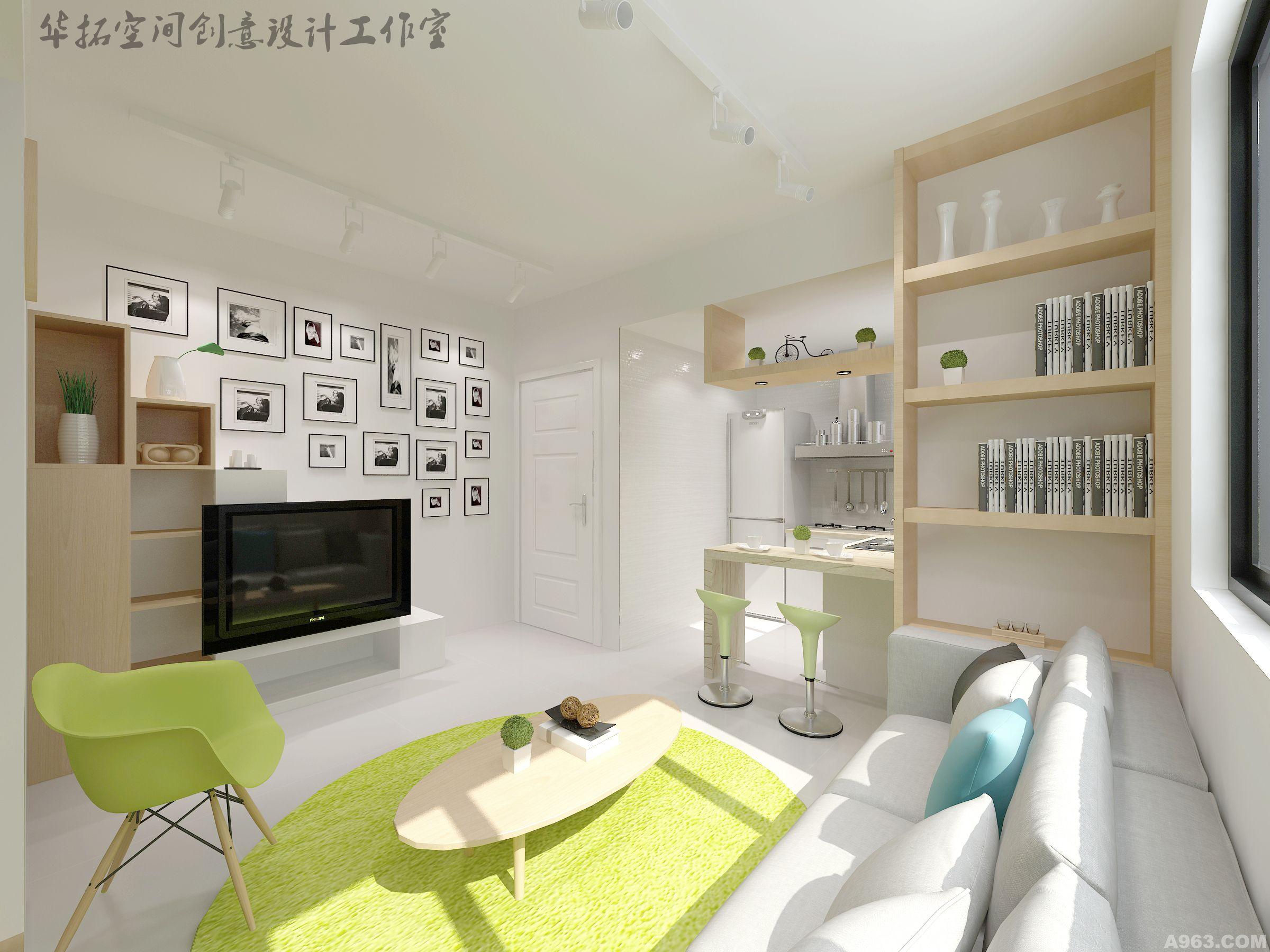 公寓設計 現在簡約公寓---華拓空間創意設計工作室;  項目地點:深圳