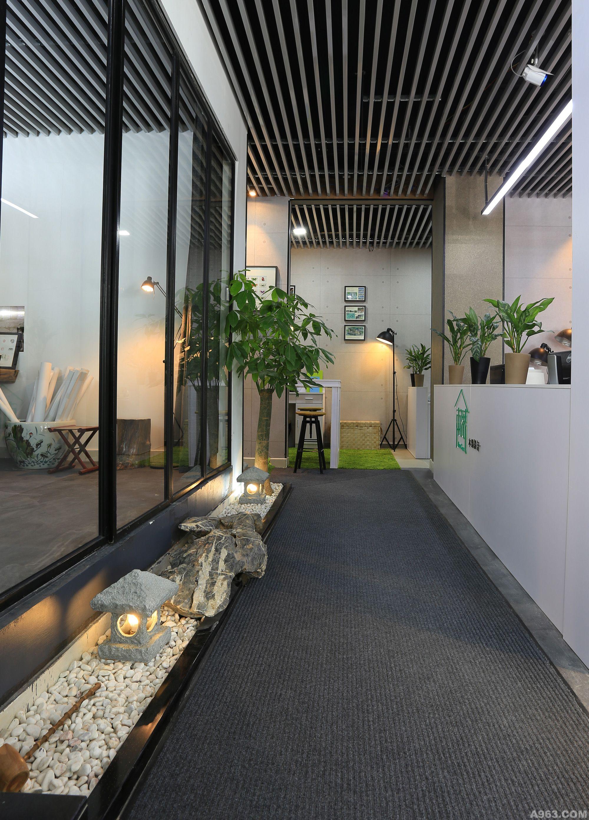 办公空间长廊设计图展示
