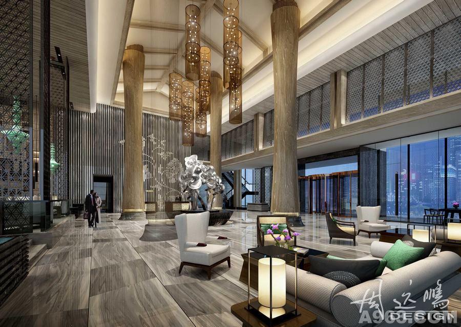 君锦岭南文化酒店大堂设计