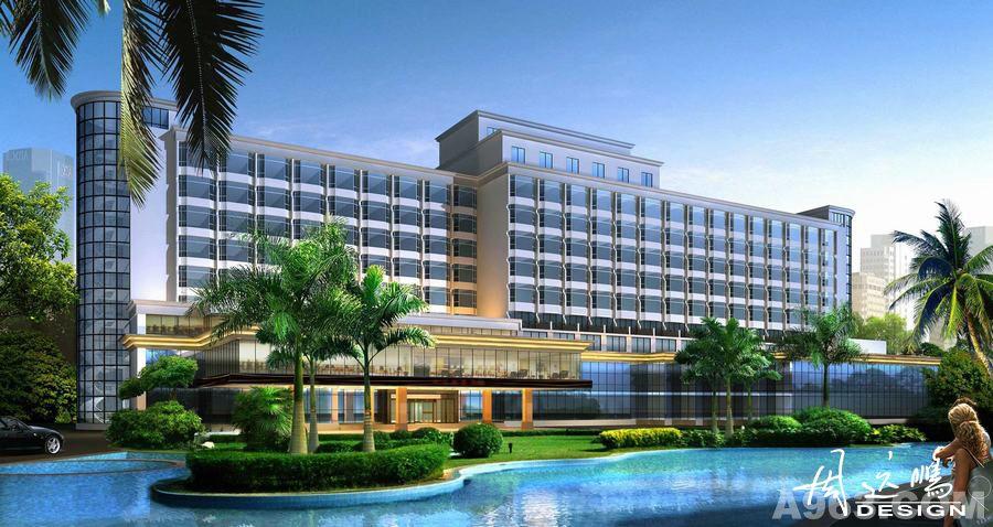 主创设计师周远鹏在设计君锦假日酒店时,结合周围山水美景,把自然元素