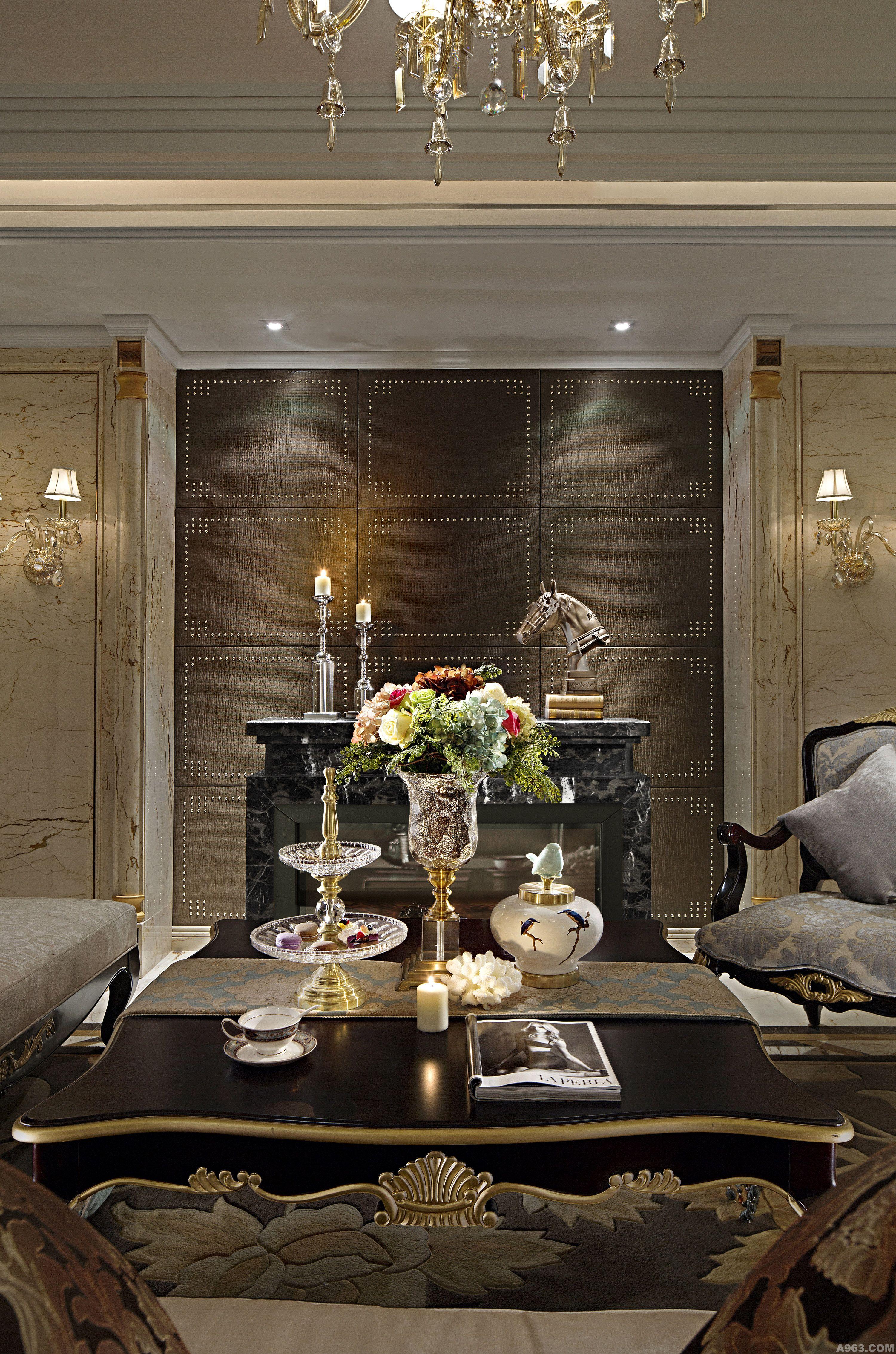 欧式印花壁纸 客厅样板房