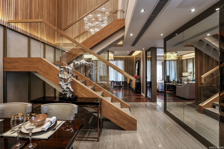 惠州央筑花園復式洋房樣板房設計