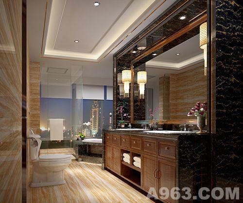 欧式卧室木饰面装饰效果图
