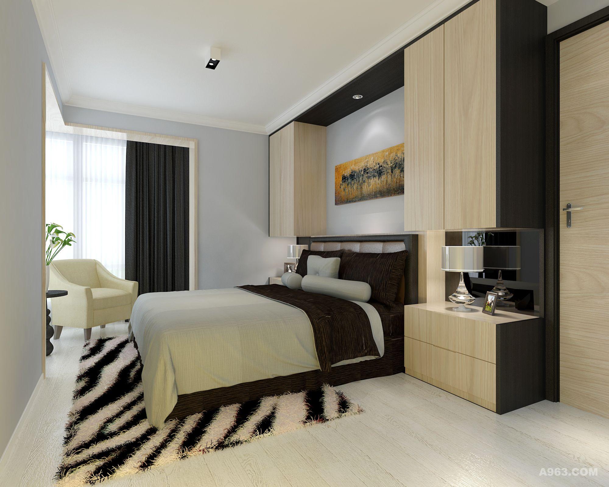 现代简约卧室图片