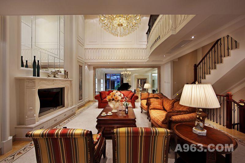 吴开城设计作品——别墅空间——客厅