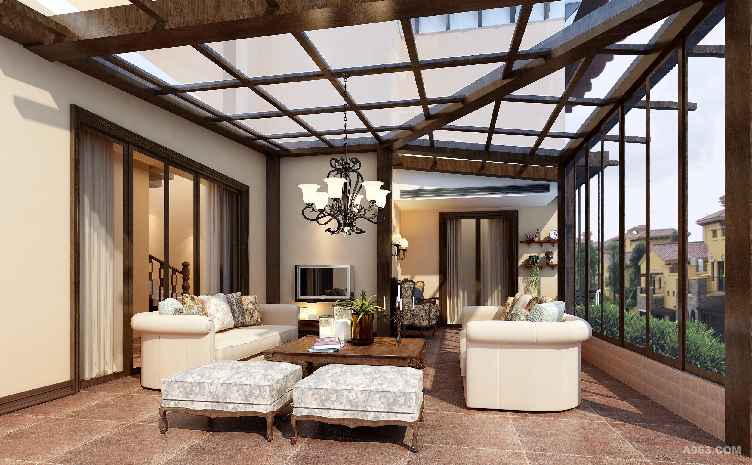 美式风格阳光房设计图片