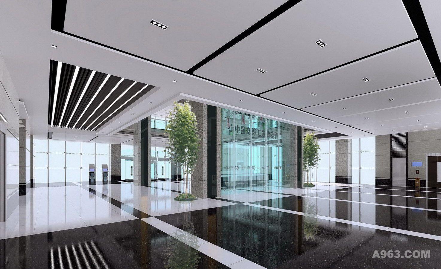 贾存喜设计作品-5a甲级写字楼大堂设计图片