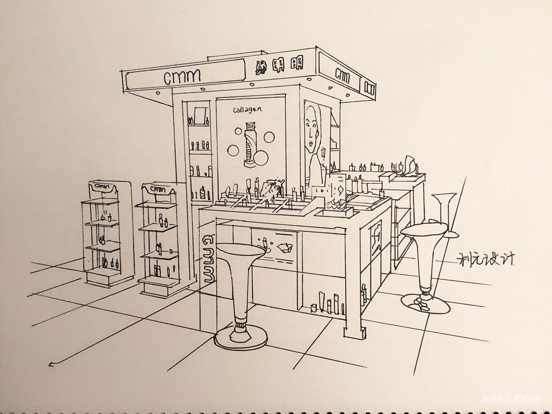利元设计手绘线稿图