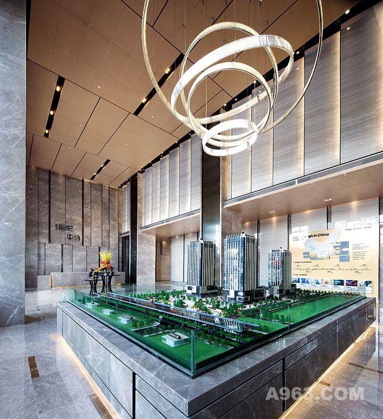 图三:昆明海伦中心销售中心设计-沙盘区设计