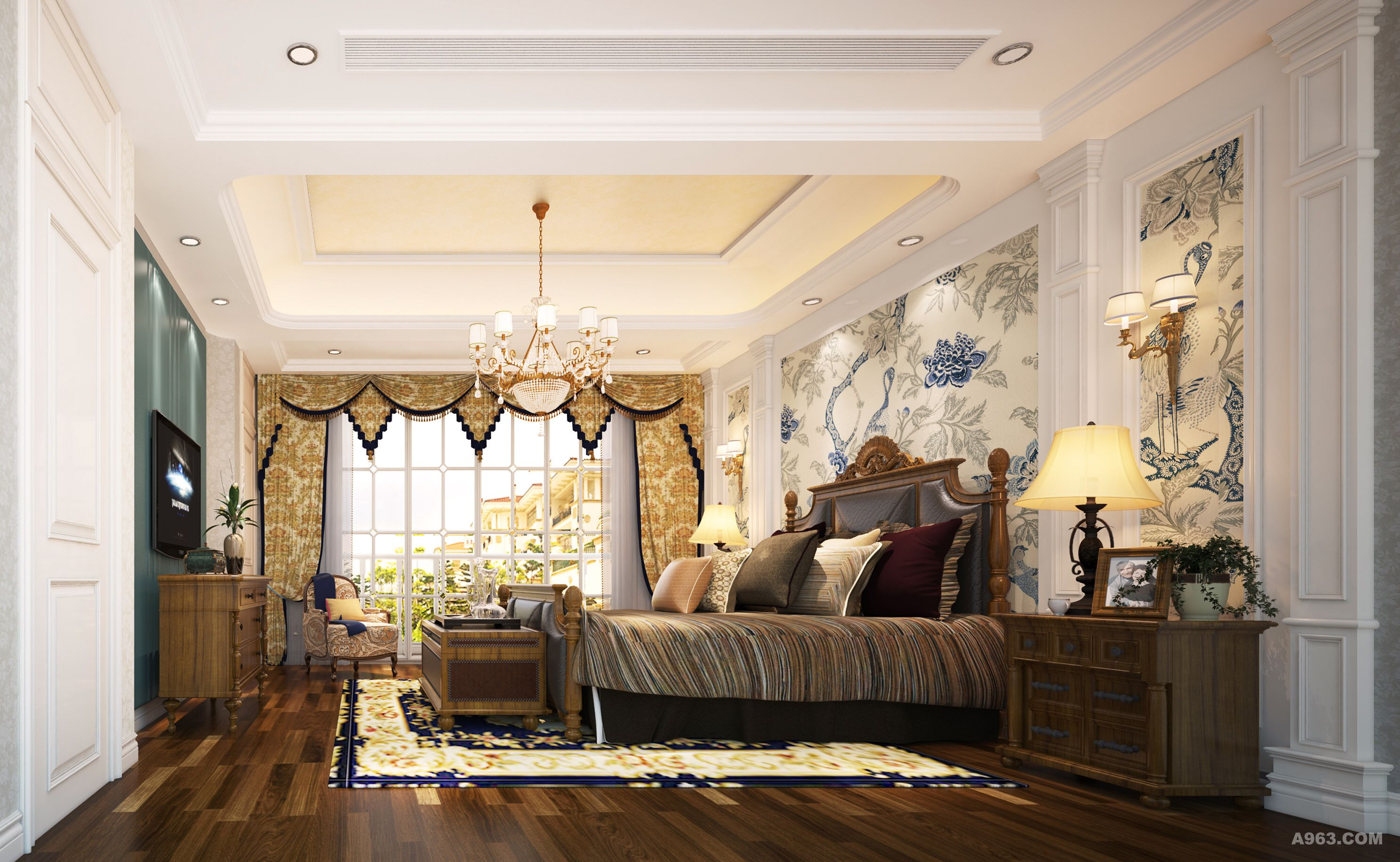 本设计现代欧式为主,但处处透露出家的温馨。高品质的家居环境是创造完美生活的必备要素。