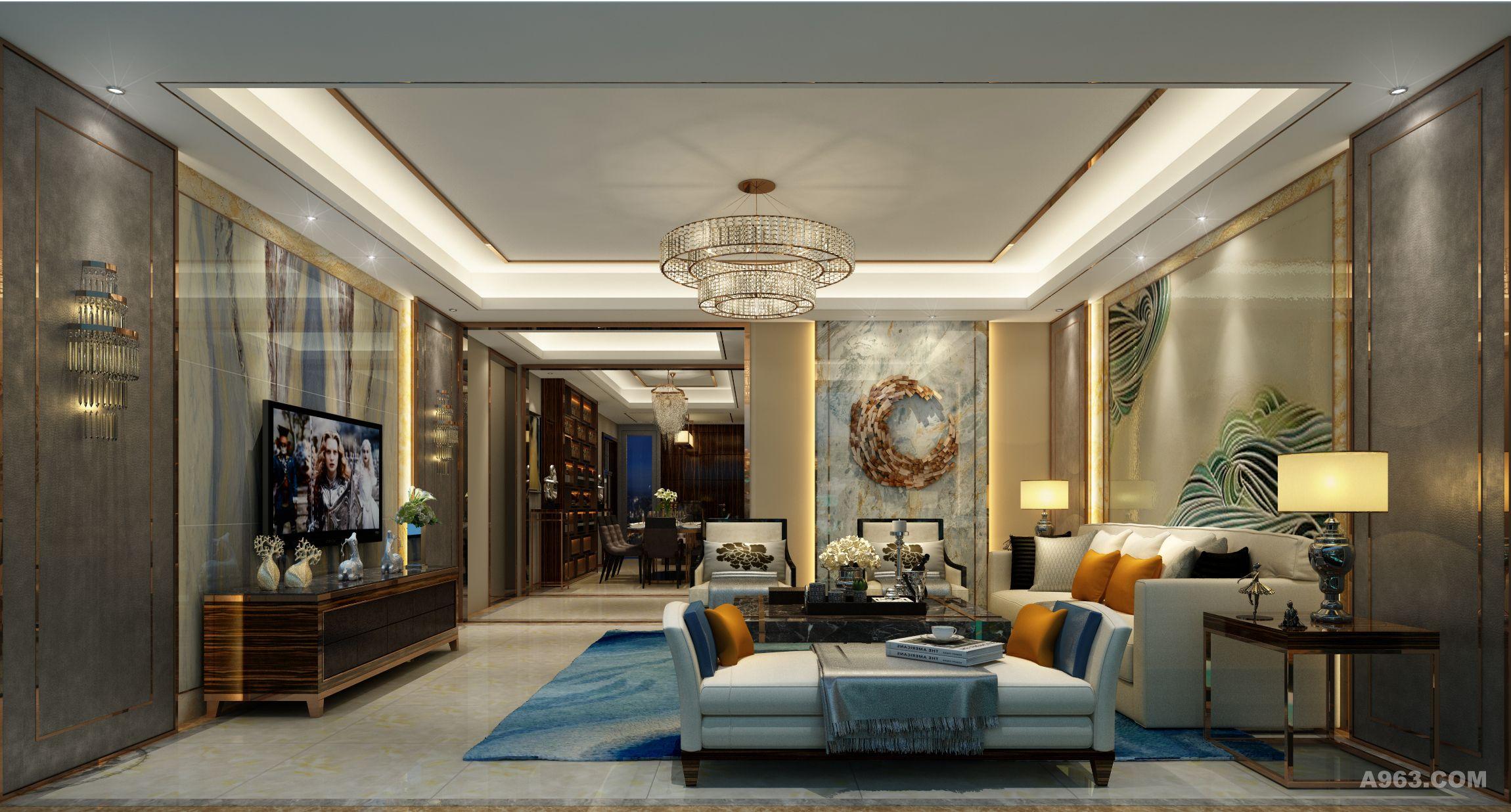细节决定成败,客厅做为一个公共区域无论颜色还是材质,讲究的不是杂乱的堆叠,炫酷的视觉效果 ,而是一气呵成,恰到好处!
