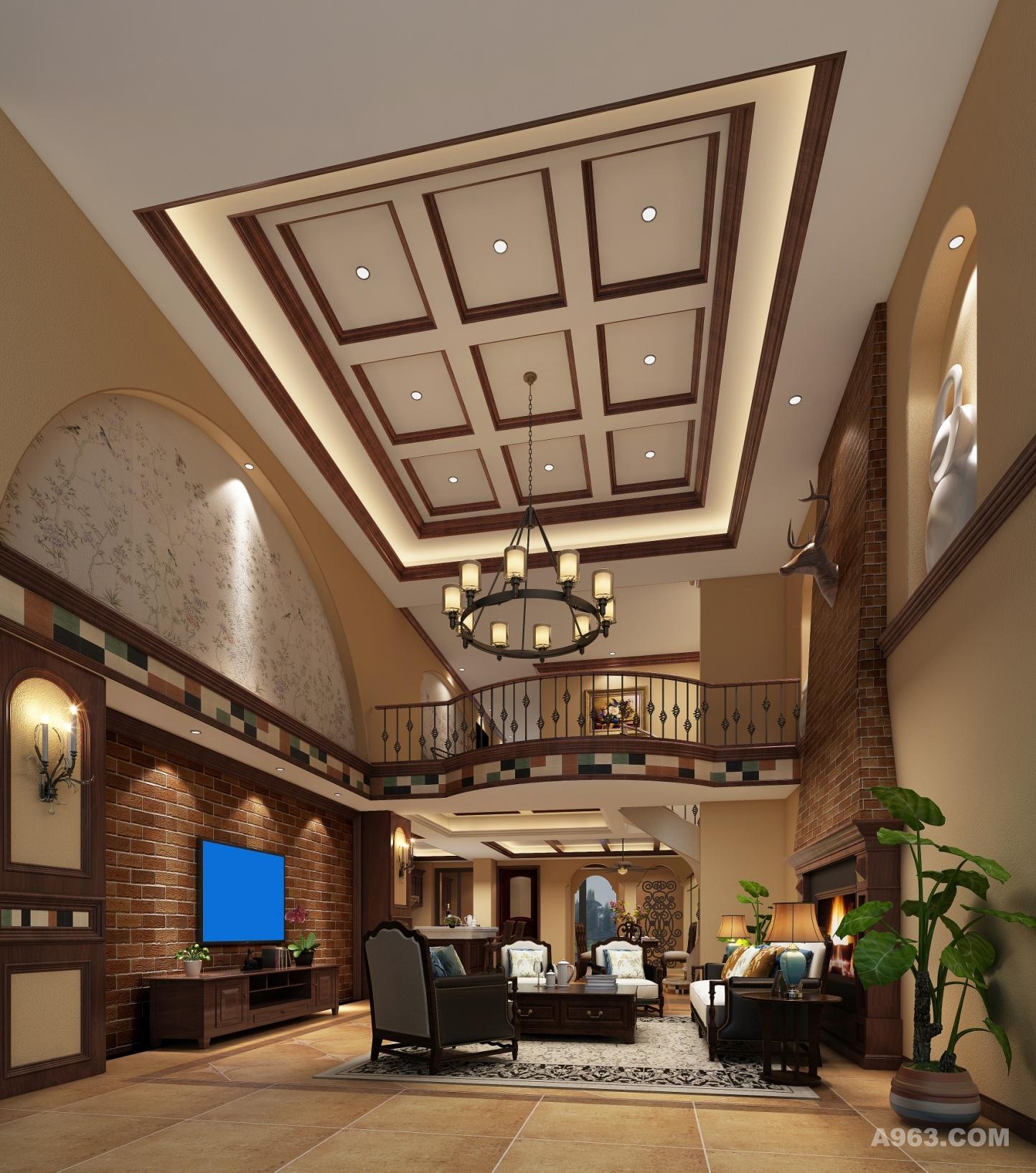 客人能在客厅得到关于一个家的第一印象,美式风格由于美国崇尚自由,随意不羁的生活根源,成就了不一样的休闲浪漫。对细节的精致追求,又让美式客厅散发温馨的家庭气氛。 布艺,实木,铁艺,复古砖。。。这些元素在客厅里都能看得到,大物件如沙发,茶几,小物件如烛台,都展露出轻美式的格调。电视背景和沙发背景呼应,用了红砖,营造轻松,休闲的氛围。