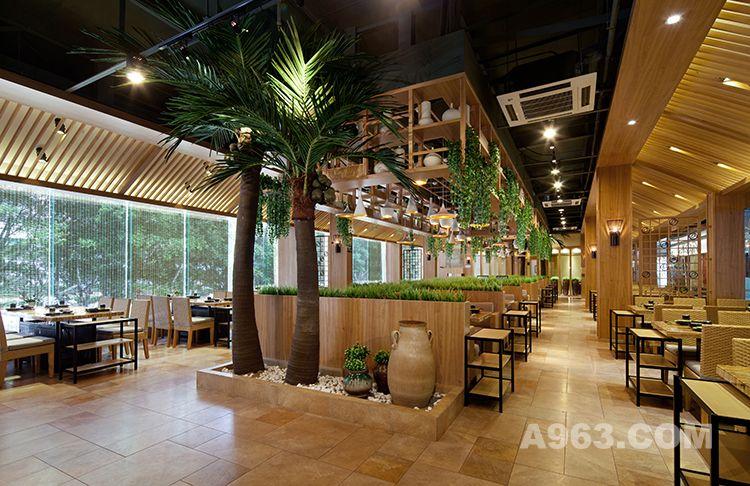 【朗昇国际商业设计】锦园四季椰子鸡餐厅设计