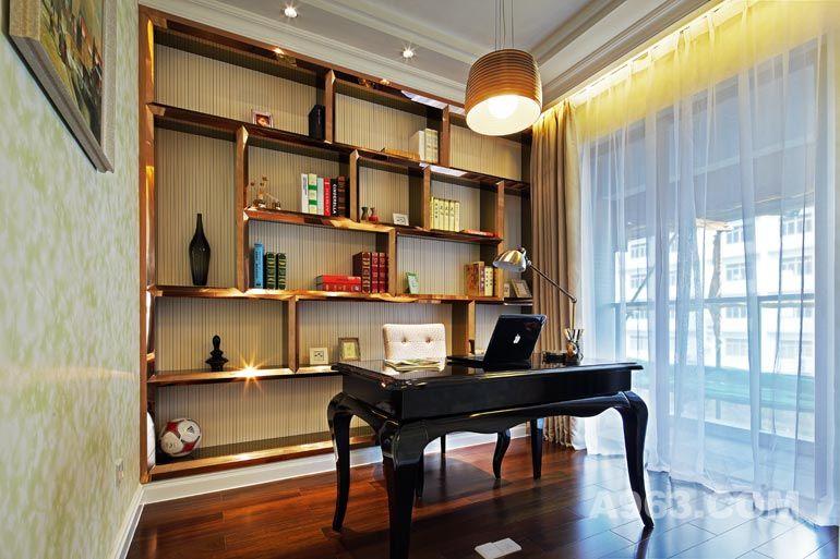 现代欧式书房装修设计实景图