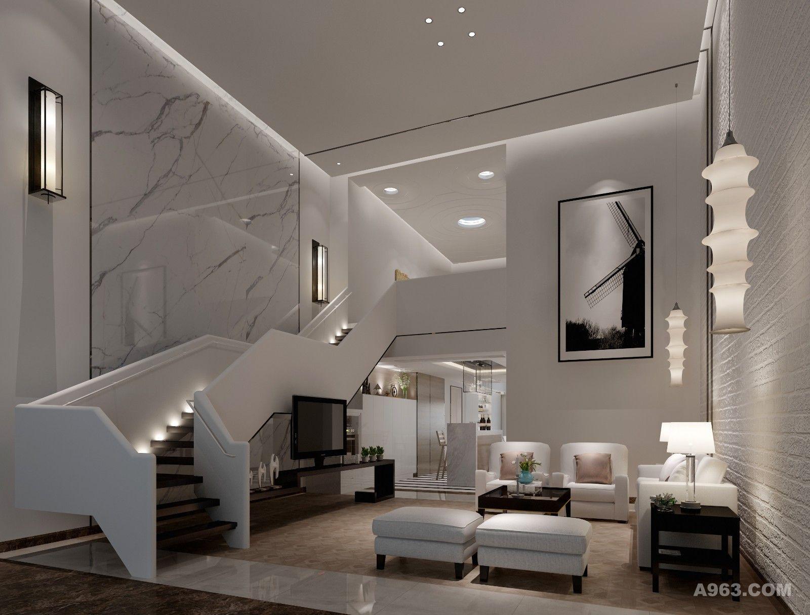天然的石材温和自然,敞亮的设计使客厅充满阳光的气息,为房子融入更多的生活风雅。