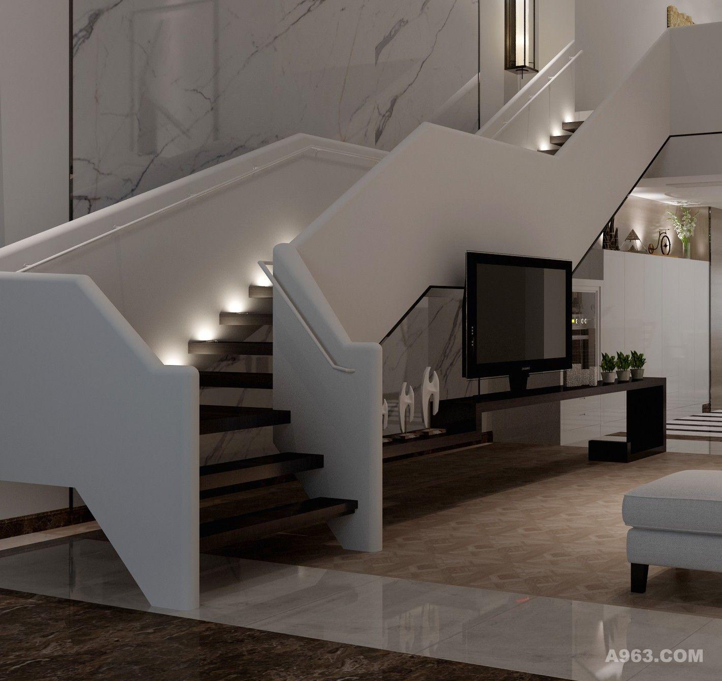 洁白的楼梯,登上梦想的天堂。