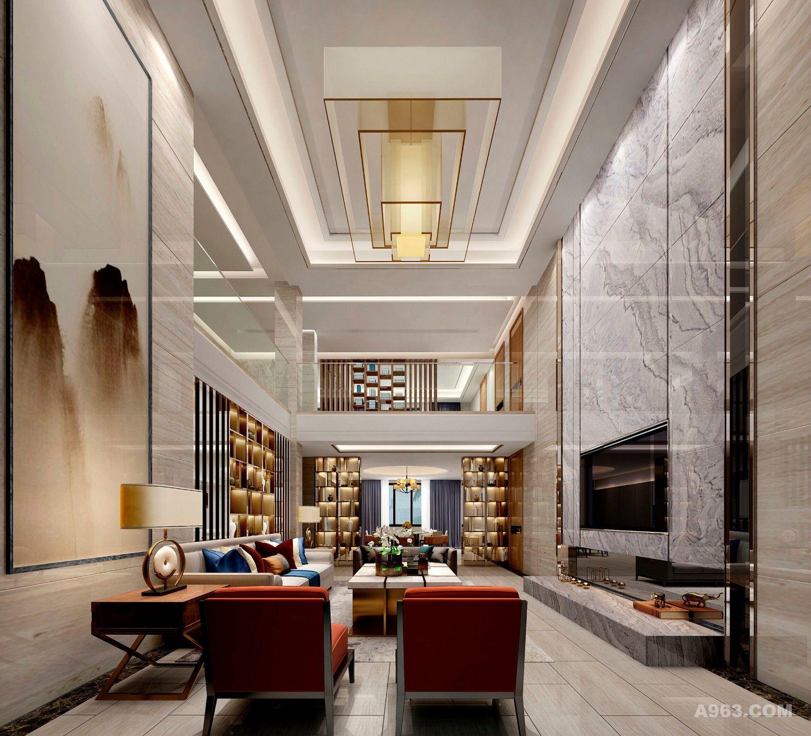 新中式风格高级别墅设计