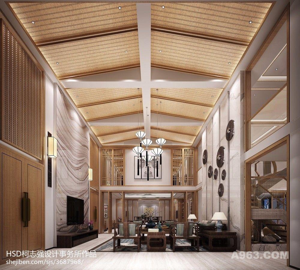 新中式茶会所,待客厅,大厅